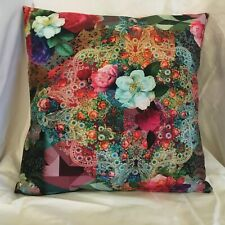"Throw pillow cover or sham  14"" cotton floral print"