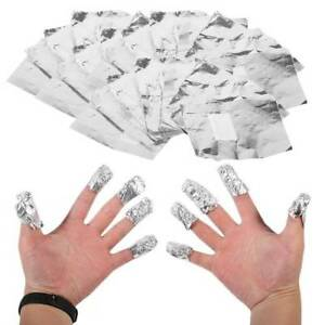 100Pcs Aluminium Foil Nail Soak off Gel Polish Acrylic Wraps Remover Pads Remove