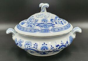 Hutschenreuther Zwiebelmuster Terrine Porzellan blau 1,5 L