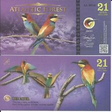 ATLANTIC FOREST BILLETE 21 AVES DOLLARS 2016