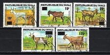 Animaux Caprins Mali (199) série complète 5 timbres oblitérés