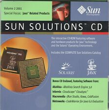Sun Solutions CD Volume 2 2001 by Sun microsystems