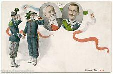 POLITIQUE. EMILE LOUBET ET VICTOR EMMANUEL III ROI D'ITALIE. 1903