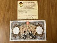 REGNO D'ITALIA BANCONOTA LIRE 1000 REGINE DEL MARE FASCIO ROMA 21 3 1934 RARA