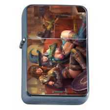 Hot Anime Witches D2 Flip Top Dual Torch Lighter Wind Resistant