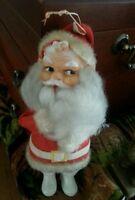 Vintage Santa Rubber Face Tree Ornament Christmas MCM Holiday