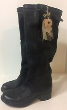 NEW FREE PEOPLE AS 98 NOCTURNE BLACK LEATHER KNEE HIGH BOOTS US 10.5 EUR 41