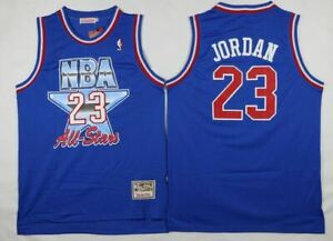 Michael Jordan #23 1993 NBA All Star M&N Royal Blue Throwback Jersey