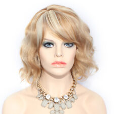 Wiwigs Dark and Light Blonde Mix Short Curly Summer Style Skin Top Ladies Wig