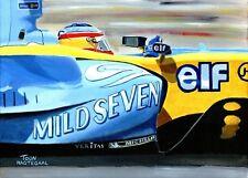Original Painting Mild Seven Renault R25 2005 #5 Fernando Alonso, Nagtegaal