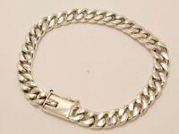 "925 Sterling Silver Curb Chain Bracelet. 32 grams, 19.5 cm, 7.7"""