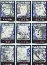 Star Wars Chrome Perspectives Complete Wanted Posters Chase Card Set 1-10