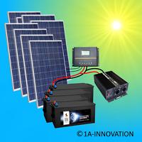 2000W Solaranlage Komplettpaket 220V 4x Akku 280Ah 24V Solarpanel 275W Watt