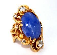 GIA Zertifiziert Natürlich Lila Jade Diamanten Ring 18 Karat