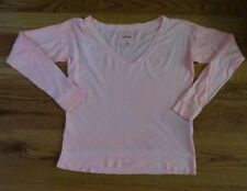 VGC abercrombie kids PEACH COLOR PULLOVER LONG SLEEVE TOP -- SIZE XL
