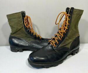 Vintage GENESCO 1970 Spike Protective Vietnam Era Green Combat Boots Men's 12W