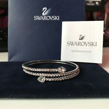 Genuine SWAROVSKI Crystal TWISTY Wrap Bangle Bracelet  - Swan Hallmarked  Superb