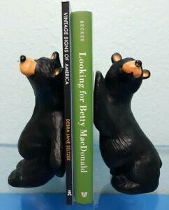 Bearfoots Bears Bookends Jeff Flemming Height 7 Inch Resin Cute Cabin Decor