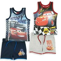 Disney Cars 3 Boys Summer Short Outfit Clothes Set Sleeveless Top and Shorts 2-8