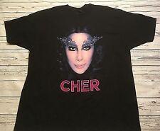 Cher Dressed To Kill Tour 2014 Black Concert Music T Shirt Adult Sz 2Xl Xxl Nwot