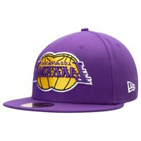 Los Angeles Lakers New Era Disturb Mirror 59FIFTY Fitted Hat - Purple