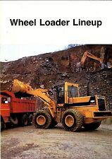 Komatsu Wheel Loader Lineup circa 1988 brochure
