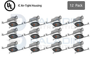 """6"""" Inch New Construction Recessed Can Light Housing - IC Air Tight LED (12 Pack)"""