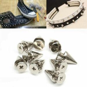 100pcs goujons en métal rivet balle cône de spike rivet pour l'artisanat en cuir