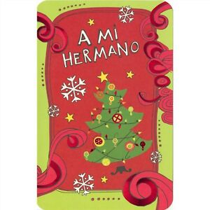 AG Spanish Christmas Card: I'm Glad You're My Brother...There's No Better Time