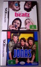 2 NINTENDO DS GAMES: BRATZ 4 REAL & JONAS - Australia - COMPLETE