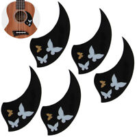 5*Ukulele Pickguard PVC Self-Adhesive Scratch Plate for 26 Tenor Ukulele Black
