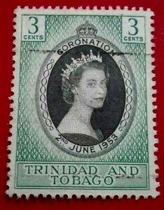 Trinidad & Tobago:1953 Coronation of Queen Elizabeth . Rare & Collectible Stamp.