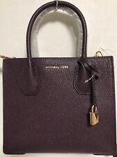 NEW Michael Kors Studio SM Mercer Gold Damson Leather Crossbody Handbag $228