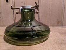 Vintage Bulach Green Glass Christmas Tree Stand~Made in Switzerland~VGC~
