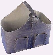 Handmade Luxury Cowhide Modern file organiser/newspaper/magazine storage basket