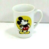 Disney Mickey Mouse Mug w/handle Disneyland Walt Disney World White