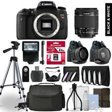 Canon EOS Rebel T6s Digital SLR Camera 3 Lens Kit + 64GB Multi Accessory Bundle