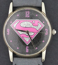 Superman Pink Glitter Character Watch by Fossil for the Warner Brothers Store