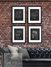 Ice Hockey Posters set of 4 Unframed Boys Room Decor Chalkboard Art Prints