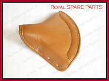 New Royal Enfield Tan VINYL Front Solo Seat With Chrome Springs Complete