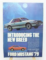 1979 Ford Mustang Vintage Magazine Print Ad Introducing the New Breed