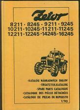 Zetor Traktoren Ersatzteilkatalog 8211 - 8245 - 9211 Traktor  Ersatzteile intern