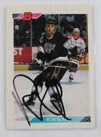 Rob Blake Auto 1992/93 Bowman #367 Signed Hockey Card Los Angeles Kings