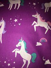 New ListingUnicorns On Purple Fabric Scrap Quilt Sew
