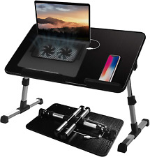 Adjustable Lap Desk With Cooling Fan Proglobe Lapdesk With Fans Laptop Stand W