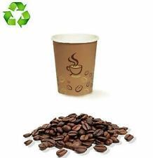 🥃 100 BICCHIERI DI CARTA da 75 ml CHICCO DI CAFFÈ BIODEGRADABILI DA ASPORTO 🥃