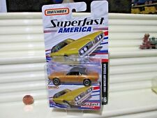 Matchbox 2006 SUPERFAST AMERICA #16 Gold+Black 1968 Mercury Cougar Car New Boxed