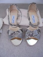 JIMMY CHOO SNAKE SKIN SANDALS NEVER BEEN WORN SIZE 37 UK 4