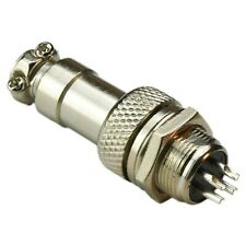 (10 Pairs) Aviation Connector Plug 4-Pins Male + Female Panel Metal (Gx12A-4P)