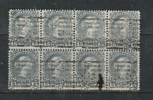 Canada #30 Used Block Of Eight
